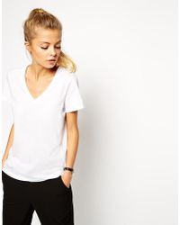 Asos T-Shirt With V-Neck - Lyst