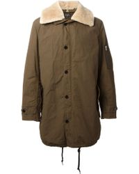 Paul Smith Fur Collar Parka Coat - Lyst