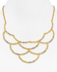 Alexis Bittar Elements Gilded Muse D'Ore Crystal Spiky Scalloped Bib Necklace - Lyst
