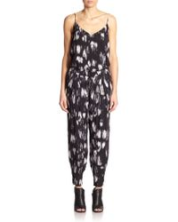 Haute Hippie Printed Silk Jumpsuit - Lyst