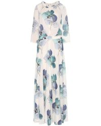 Tory Burch Julia Printed Silk Dress - Lyst