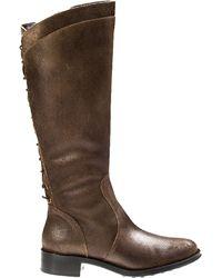 Andre Assous Saddleup Riding Boot Khaki Leather - Lyst