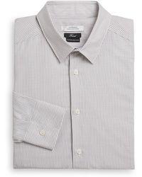 Versace Trend-fit Striped Cotton Dress Shirt - Lyst