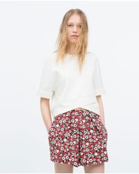 Zara Seamed Top - Lyst