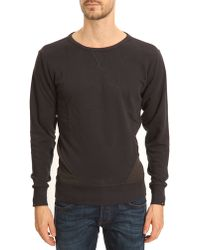 G-star Raw Fless R Navy Sweater with Black Detail - Lyst
