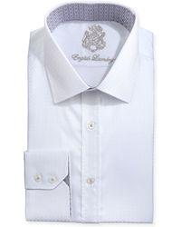 English Laundry White-On-White Check Dress Shirt - Lyst
