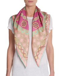 Versace Silk Medusa-print Scarf - Lyst
