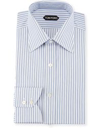 Tom Ford Striped Barrel Cuff Dress Shirt - Lyst