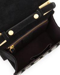 B Brian Atwood Ava Metallic Crocprint Shoulder Bag - Lyst