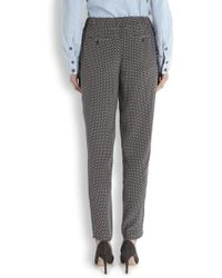 Joie - Marda Printed Silk Trousers - Lyst