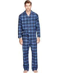 Brooks Brothers Tartan Flannel Pajamas - Lyst