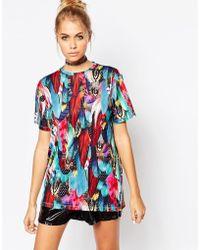 Jaded London - Feather Print T-shirt - Lyst