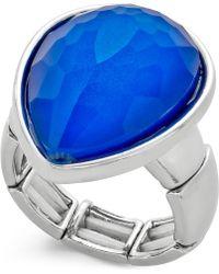 Style & Co. - Silver-tone Blue Stone Teardrop Ring - Lyst
