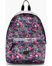 MSGM - Purple Floral Print Canvas Backpack - Lyst