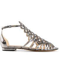 Alexandre Birman Metallic Sandals - Lyst