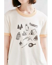 Truly Madly Deeply - Campground Ringer Tee - Lyst