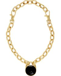River Island Gold Tone Chunky Chain Pendant Necklace - Lyst