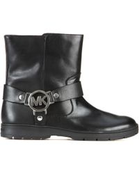 MICHAEL Michael Kors Fulton Leather Ankle Boots - Lyst