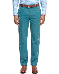 Brooks Brothers Milano Fit Seagull Embroidered Chinos - Lyst
