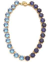 Eddie Borgo - Circle Estate Necklace - Gold/Blue - Lyst