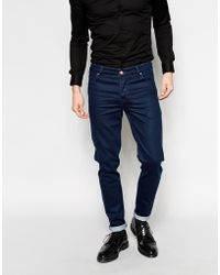 Asos Skinny Jeans With Coating - Lyst