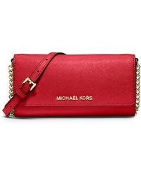Michael by Michael Kors Jet Set Saffiano Travel Wallet-on-chain - Lyst