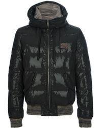 Dolce & Gabbana Hooded Padded Jacket - Lyst