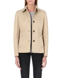 Burberry Copford Short Quilted Coat - Lyst