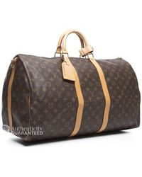 Louis Vuitton Pre-owned Keepall Bandouliere 55 Bag - Lyst