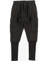 NLST Ribbed Cargo Pants black - Lyst