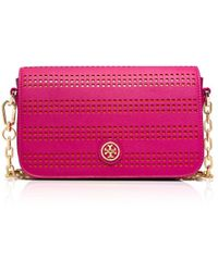Tory Burch Robinson Perforated Adjustable Shoulder Bag - Lyst