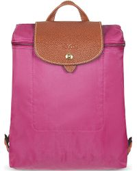 Longchamp Le Pliage Backpack in Pink Bonbon - Lyst