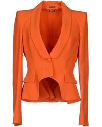 Alexander McQueen Blazer orange - Lyst