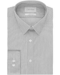 Calvin Klein Slim Fit Pinstripe Dress Shirt - Lyst