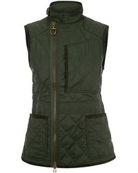 Ralph Lauren Blue Label Diamond Quilted Motto Gilet - Lyst