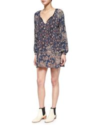 Free People Lucky Loosey Long-Sleeve Dress - Lyst