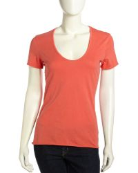 James Perse Scoopneck Soft Jersey Tee - Lyst