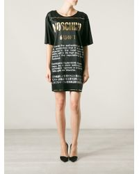 Moschino Authentic T-shirt Dress - Lyst