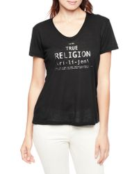 True Religion Embellished Relaxed Womens T-Shirt - Lyst