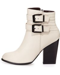 Report Signature Trever Buckled Bootie - Lyst