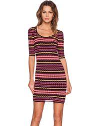 M Missoni Scoop Jersey Body-Con Dress - Lyst