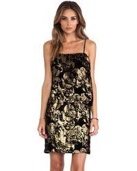 Anna Sui Village Burnout Mini Dress - Lyst