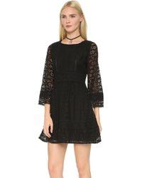 Anna Sui | Lace Dress - Black | Lyst