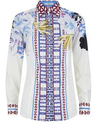 Etro Floral Stripe Shirt - Lyst