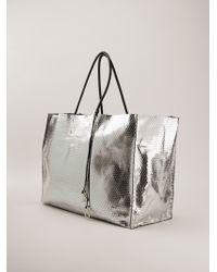 A Brand Apart - Metallic Oversized Shopper - Lyst