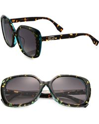 Fendi Splatter-Paint 56Mm Square Sunglasses - Lyst