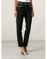 Moschino Gold Chain Trousers - Lyst