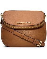 MICHAEL Michael Kors Bedford Leather Flap Crossbody Bag - Lyst