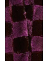 Helen Yarmak International - Purple and Black Mink Checkered Jacket - Lyst