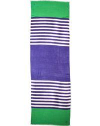 Kate Spade Six Month Stripe Scarf Emperor Bluemetropolis Green - Lyst